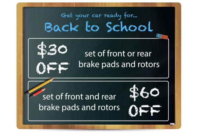 Ending Soon! Brake Sale Special