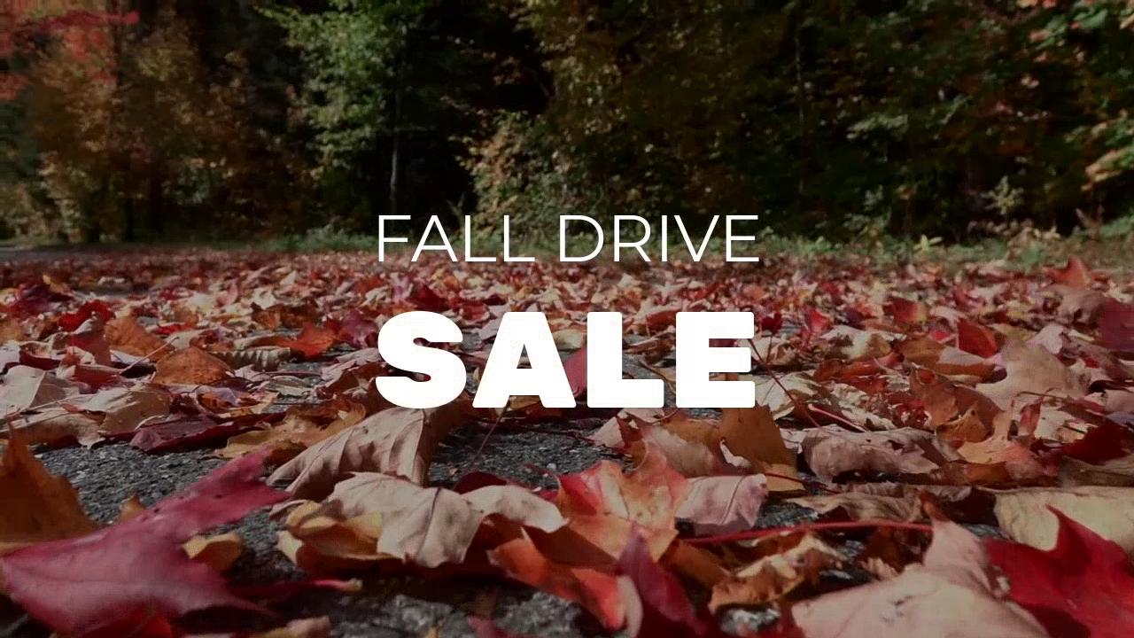 Fall Drive Sale